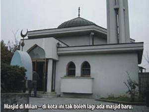 Masjid di Milan, di sini tidak boleh lagi ada masjid baru