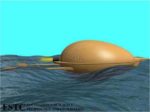 Torpedo yang dibuat ulang berdasarkan kitab Al-Rammah.