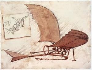 Ornithopter – sejenis ini alat terbang desain Ibnu Firnas.