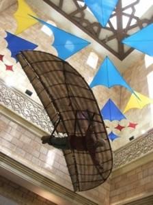 Ilustrasi tentang Ibnu Firnas di Museum